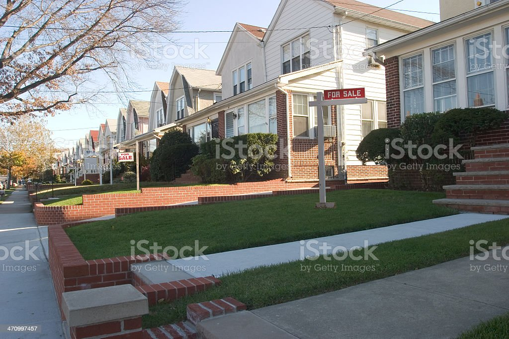 Houses for sale royalty-free stock photo