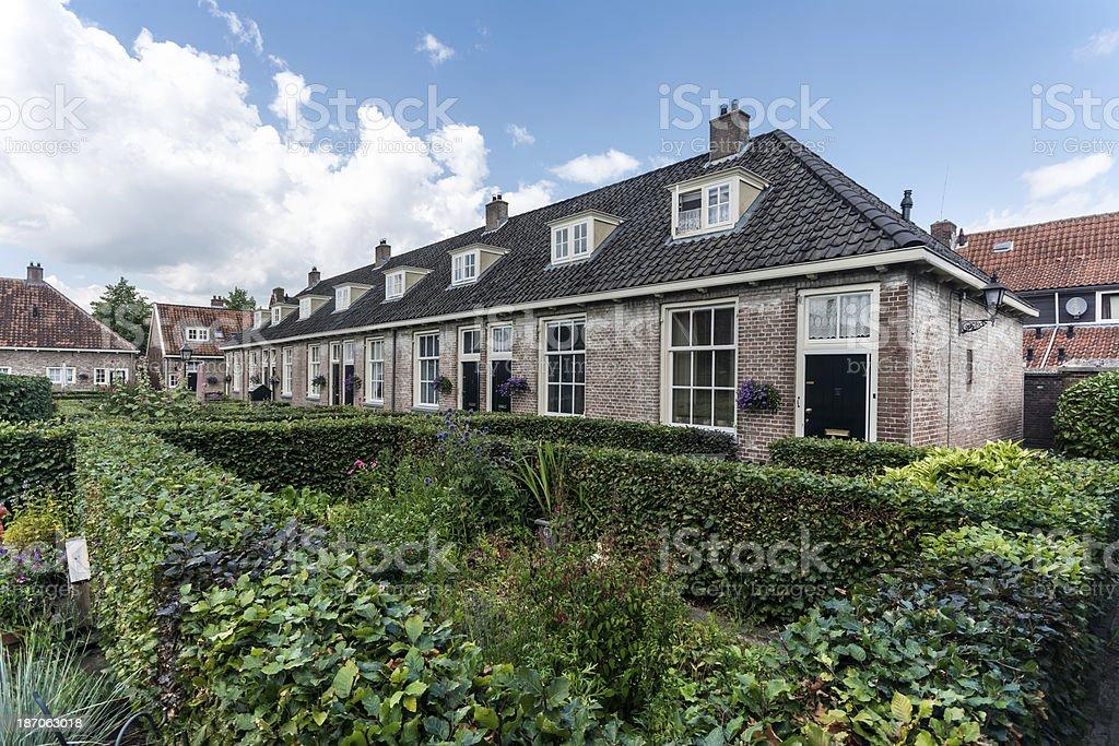 Houses Hofje Armen de Poth stock photo