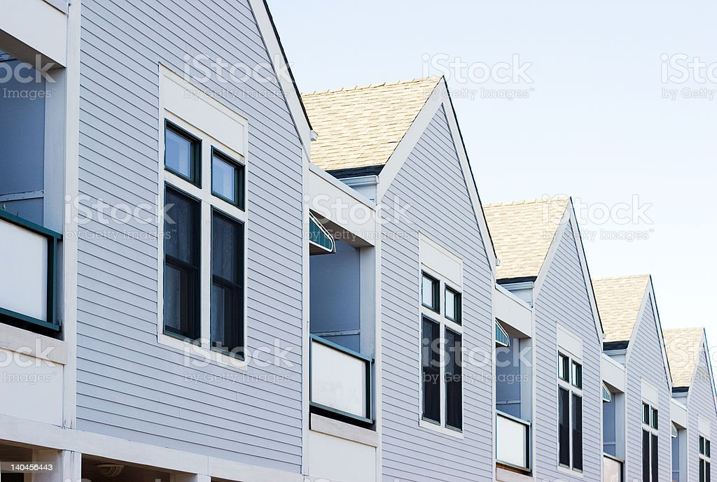 Houses in a row stock photo