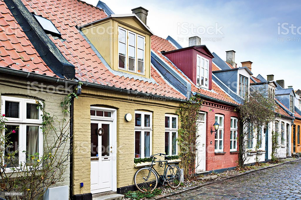 Houses in Aarhus stock photo