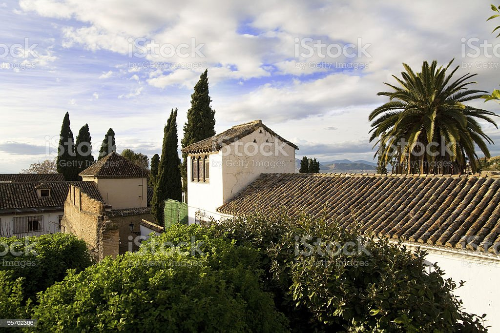 Houses in Albaicin, Granada, Andalusia, Spain stock photo