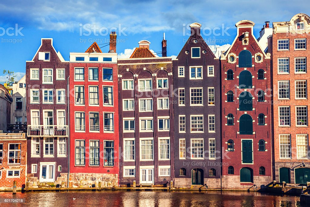 Houses in Amsterdam stock photo