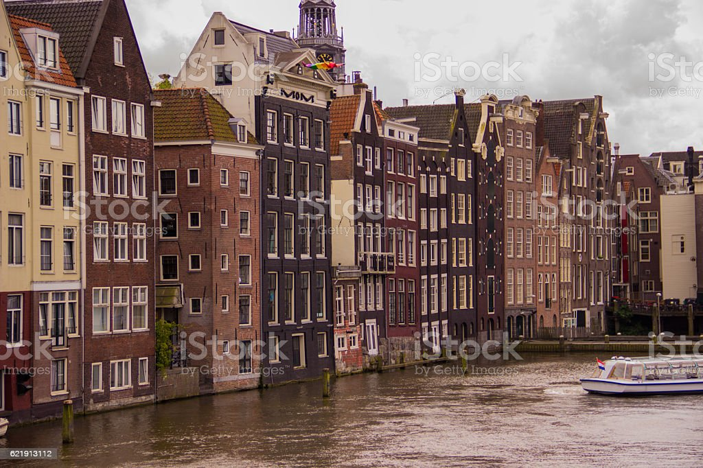 Houses in Amsterdam royalty-free stock photo