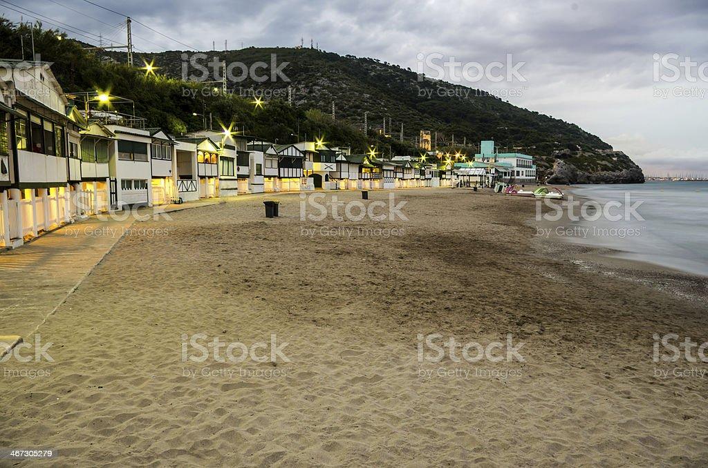 houses in an mediterranean idilic beach stock photo