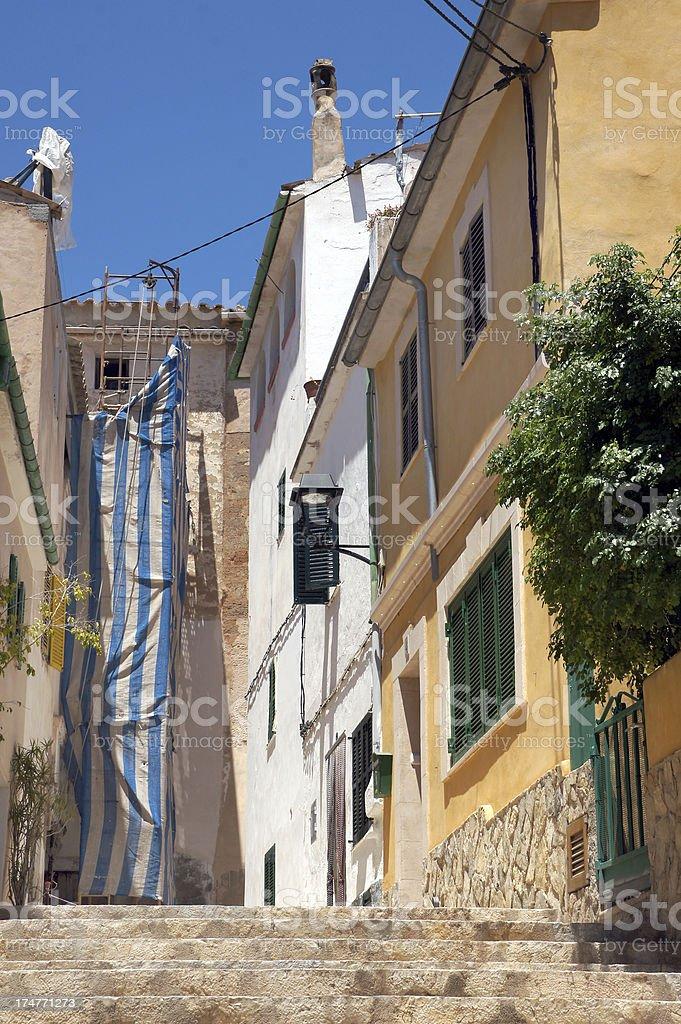 Houses in Andratx royalty-free stock photo