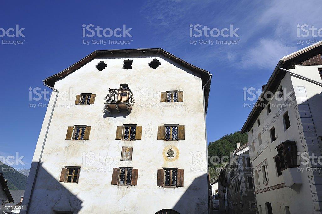 Houses in Ardez stock photo