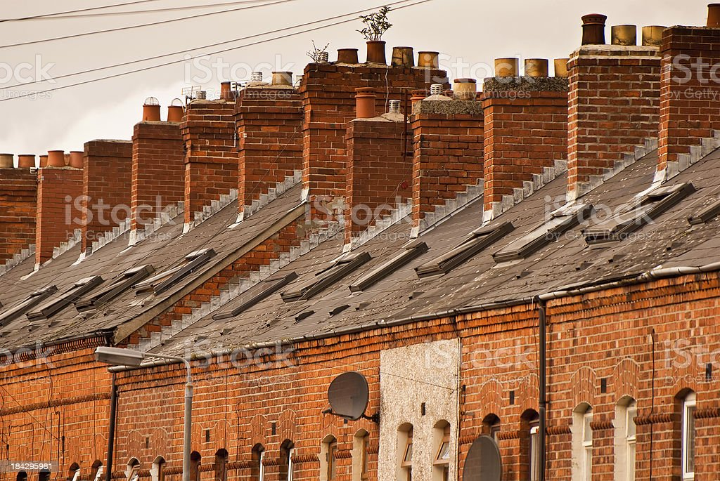 Houses in Belfast stock photo