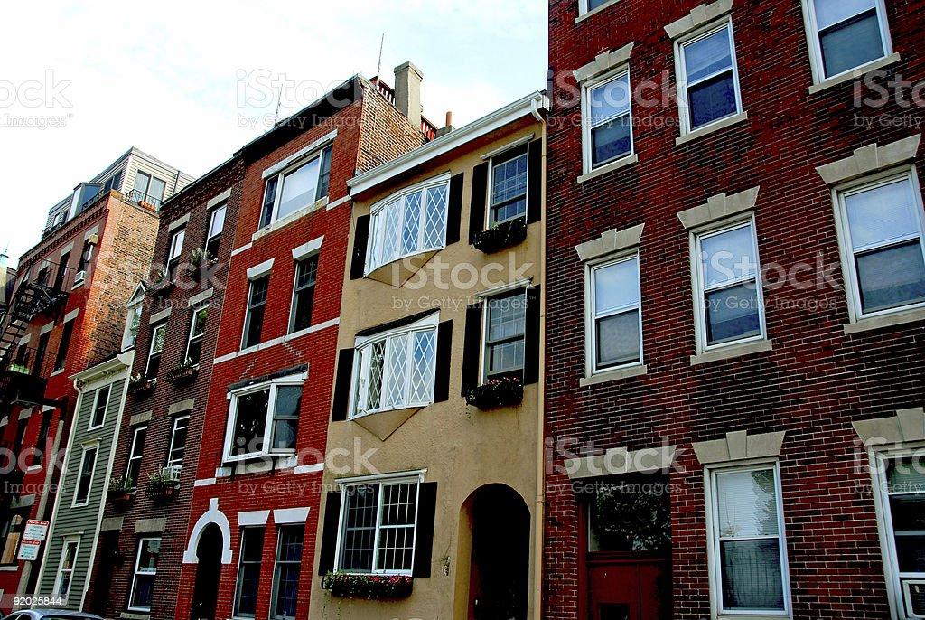 Houses in Boston stock photo