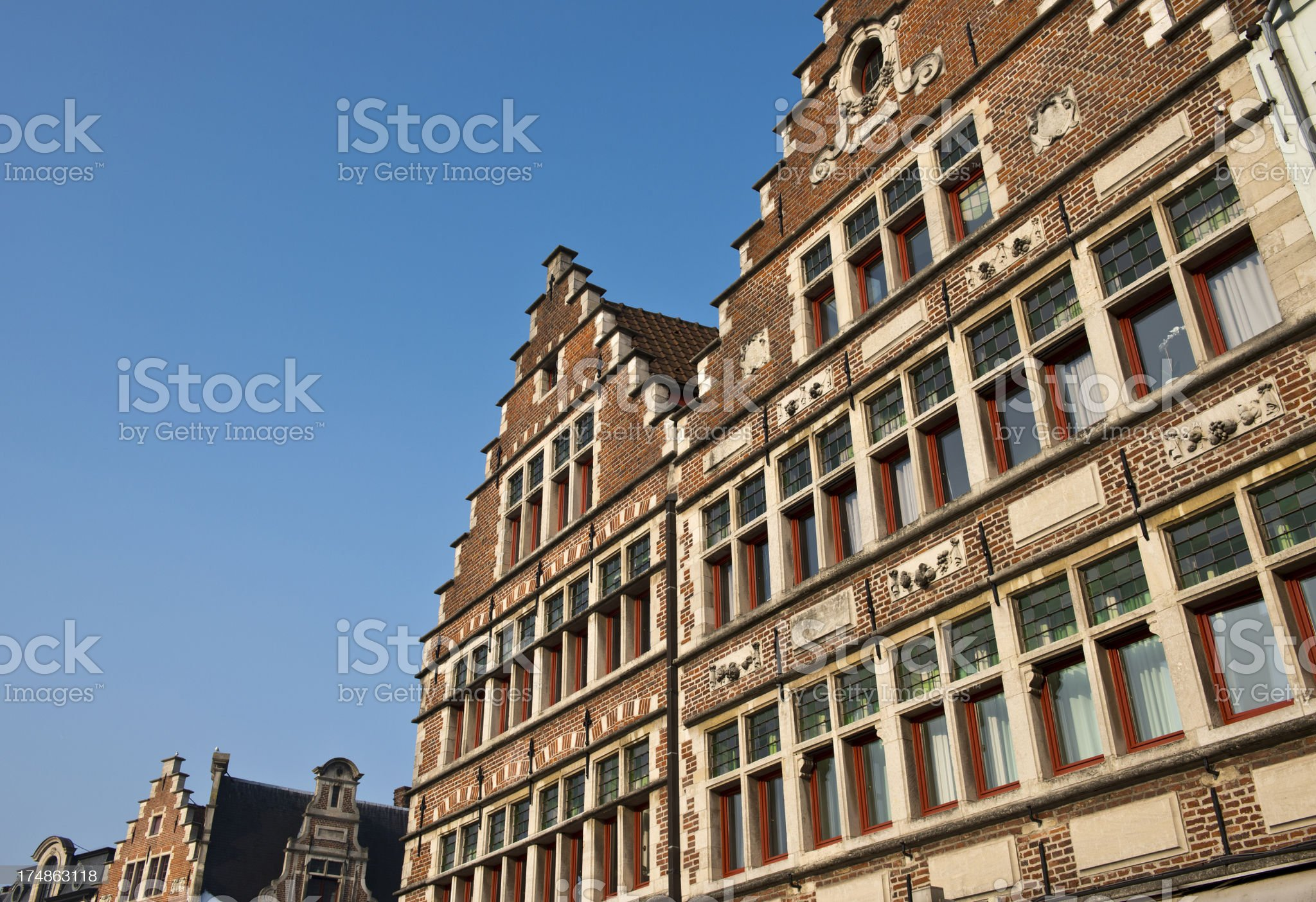 Houses in Bruges royalty-free stock photo