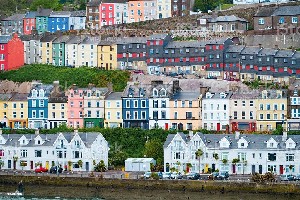 Houses in Cobh, Ireland stock photo