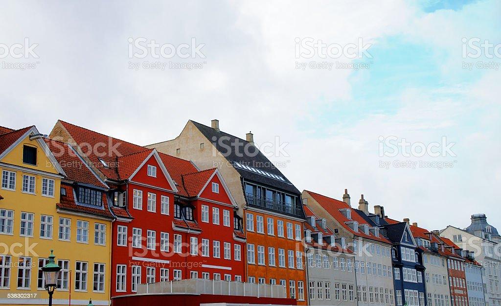 Houses in Copenhagen stock photo