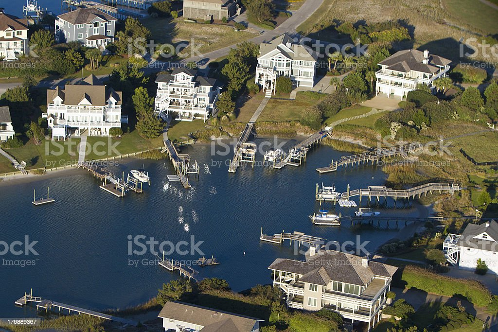 Houses in Cove stock photo