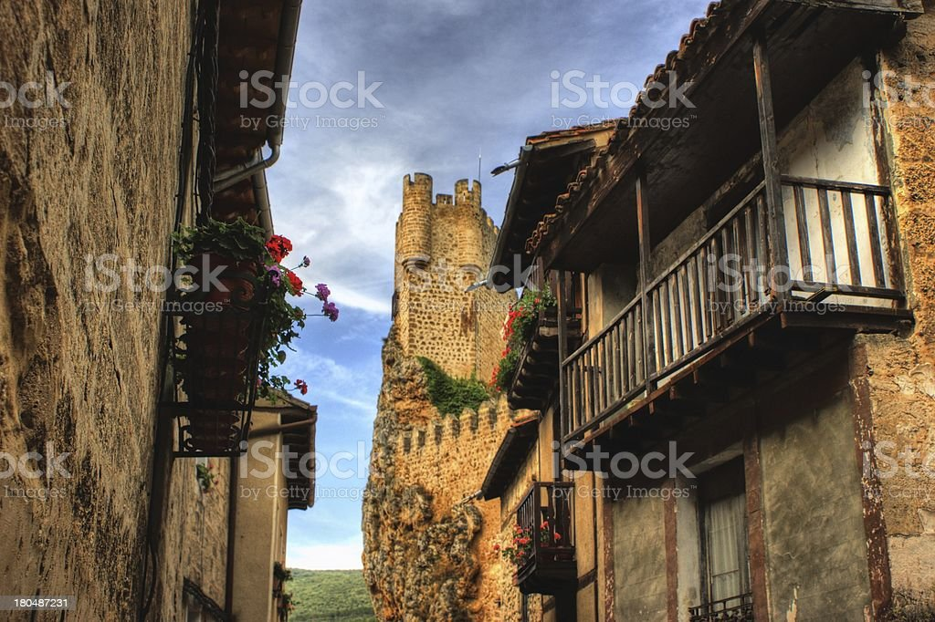 Houses in Frias stock photo