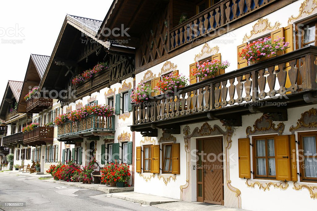 Houses in Garmisch royalty-free stock photo