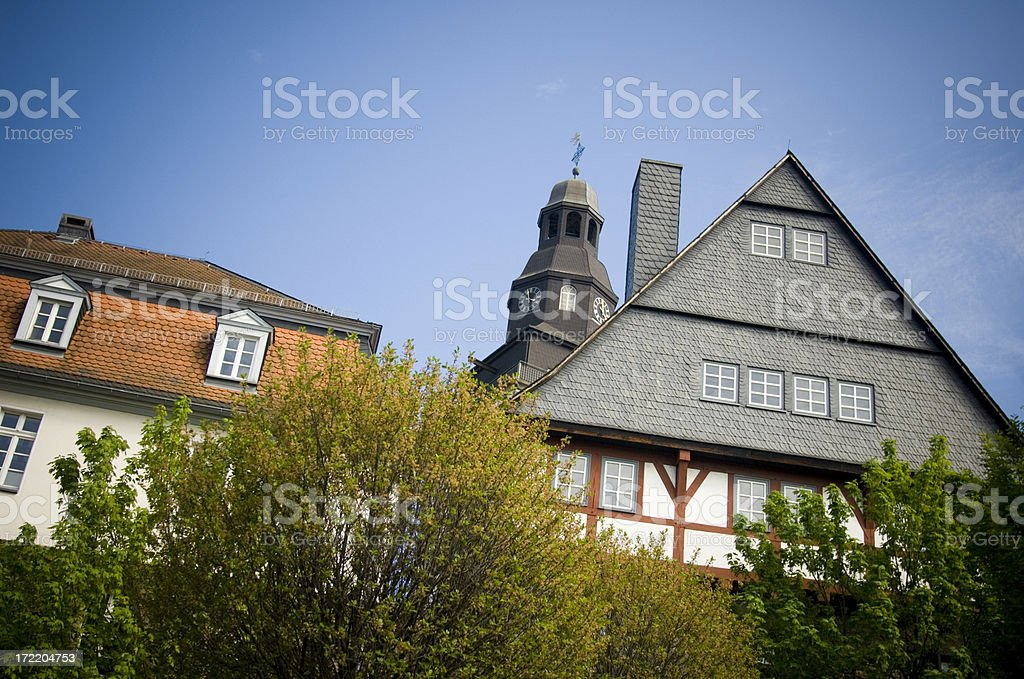 Houses in Germany stock photo