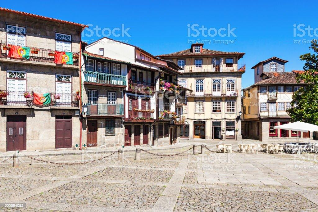 Houses in Guimaraes stock photo