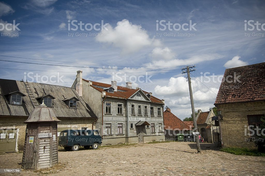 Houses in Latvia stock photo