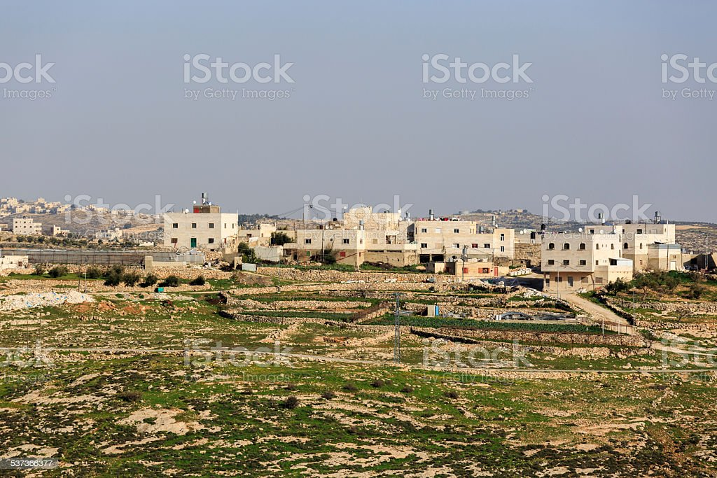 Houses in palestinian village stock photo