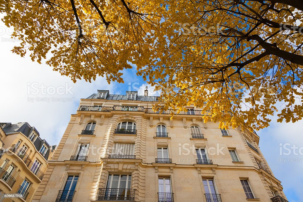 Houses in Paris stock photo