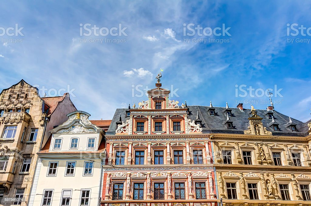 Houses in Renaissance architecture style stock photo