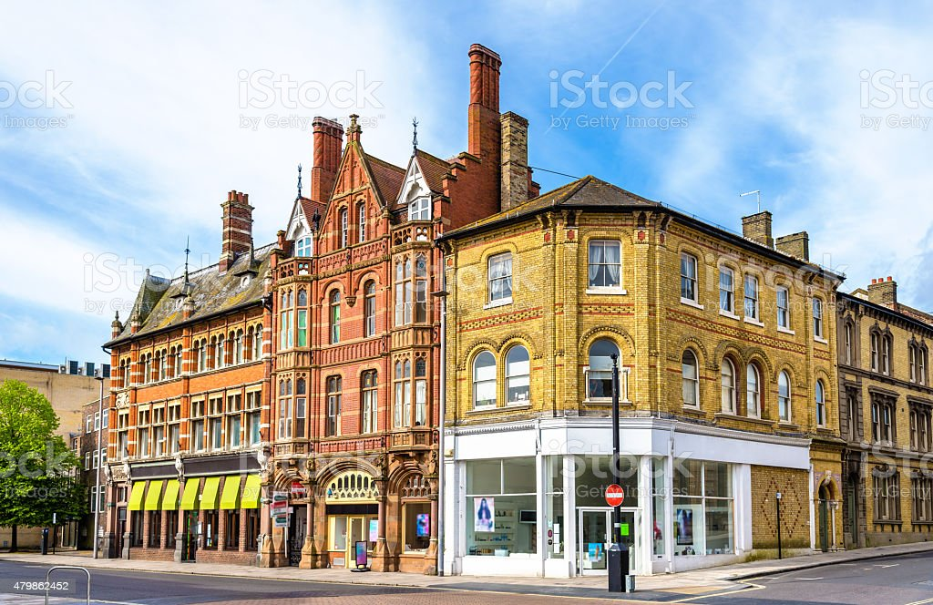 Houses in the city centre of Southampton, England stock photo