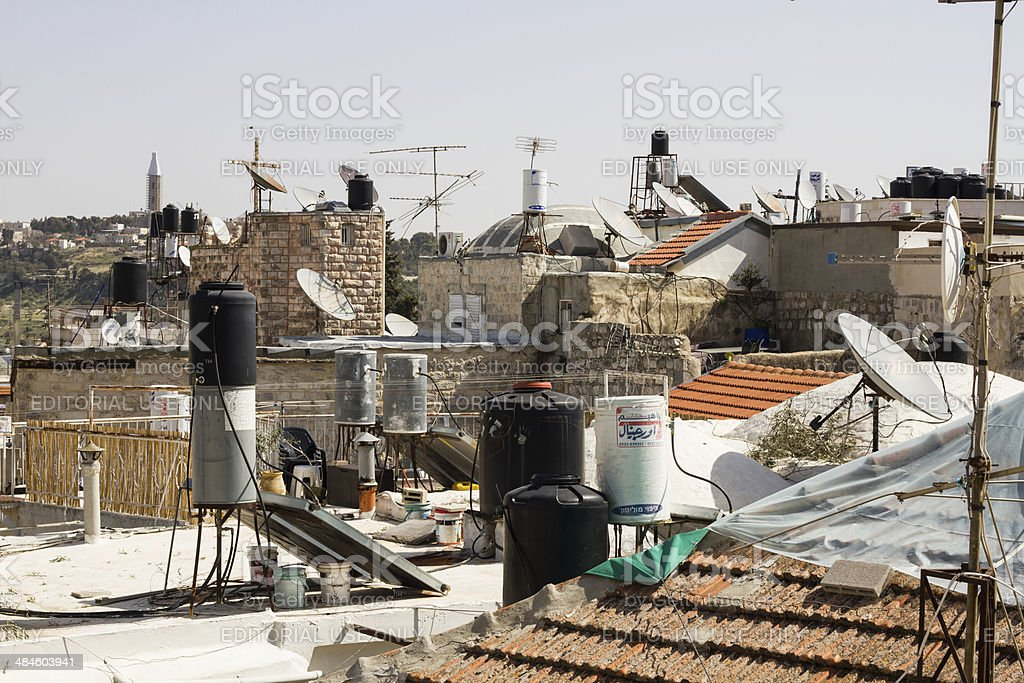 Houses in the old city of Jerusalem. stock photo