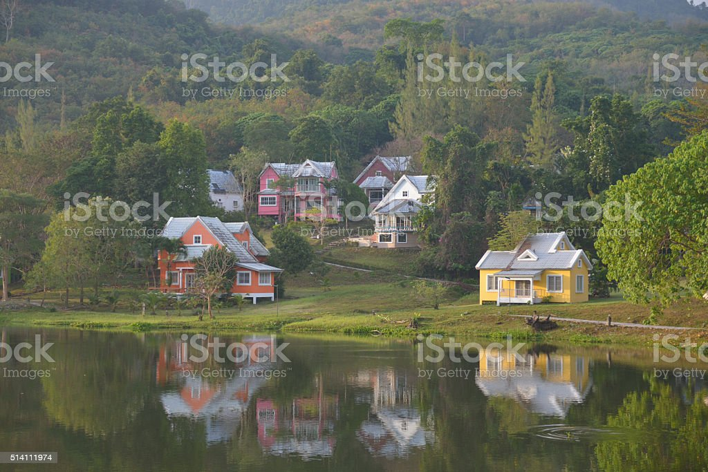 Houses in the Valley stock photo