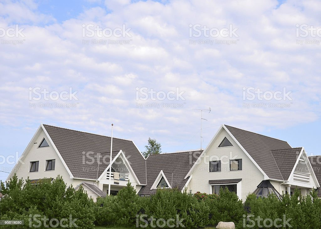 Houses in the village royalty-free stock photo