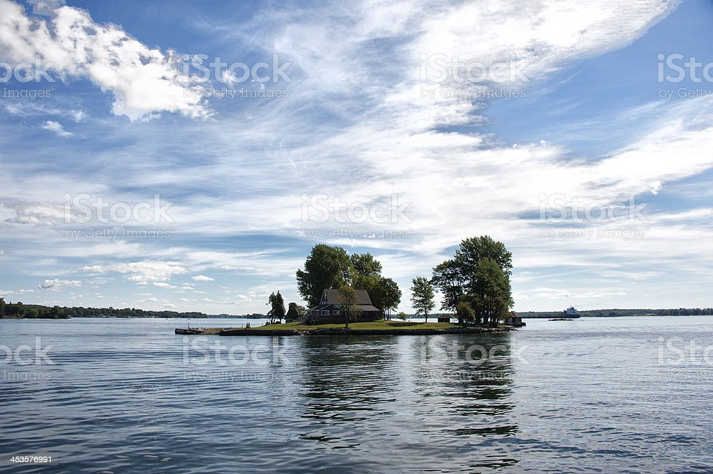 Houses in Thousand Islands stock photo