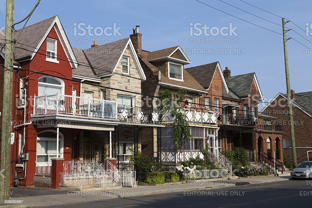 Houses in Toronto stock photo