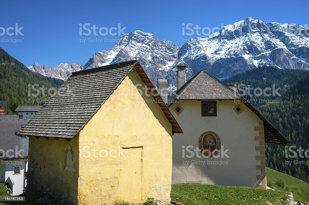 Houses in Tyrolean region of Italy royalty-free stock photo