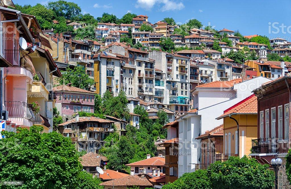 Houses in Veliko Tarnovo stock photo