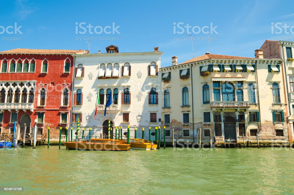houses in Venice stock photo