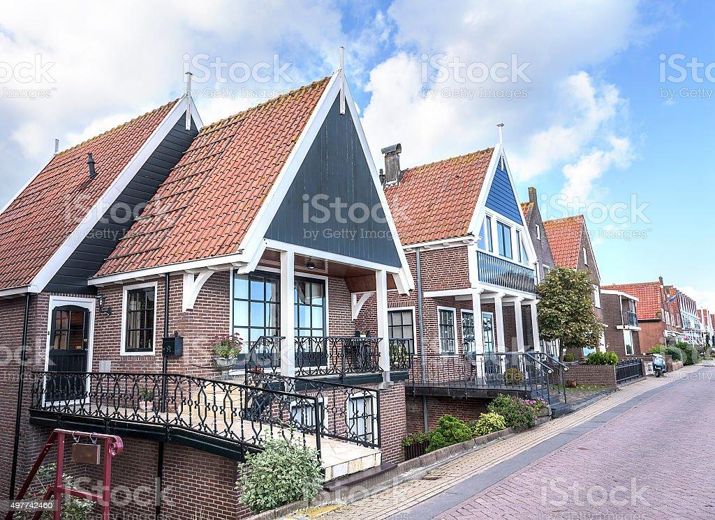 Houses in Volendam, Netherlands stock photo
