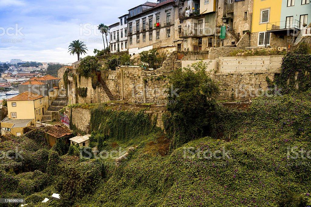 Houses near the Douro in Porto royalty-free stock photo