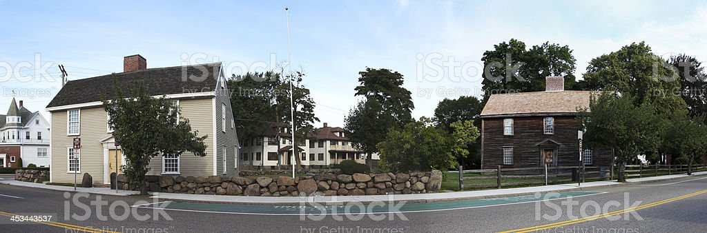 Houses of Adams(darker) and Quincy(lighter) stock photo