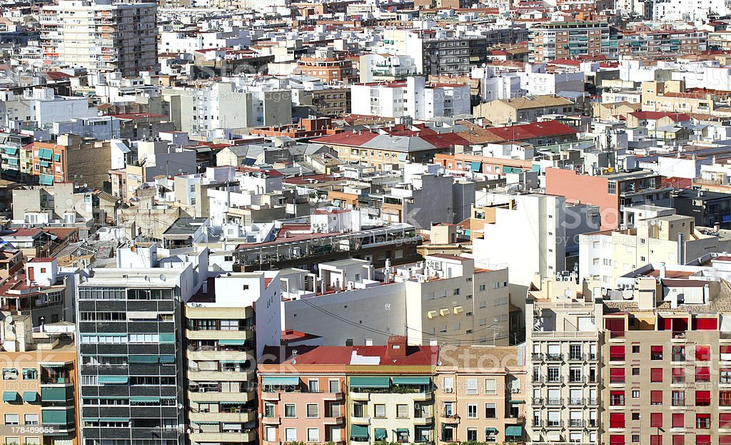 Houses of Alicante. stock photo