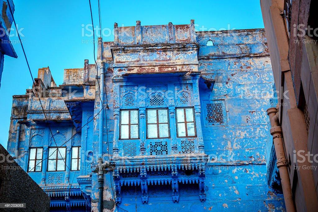 Houses of Blue City, Jodhpur, India stock photo