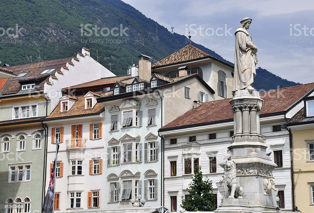 Houses of Bolzano stock photo