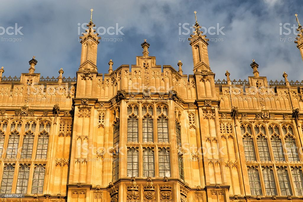 Houses of British Parliament royalty-free stock photo