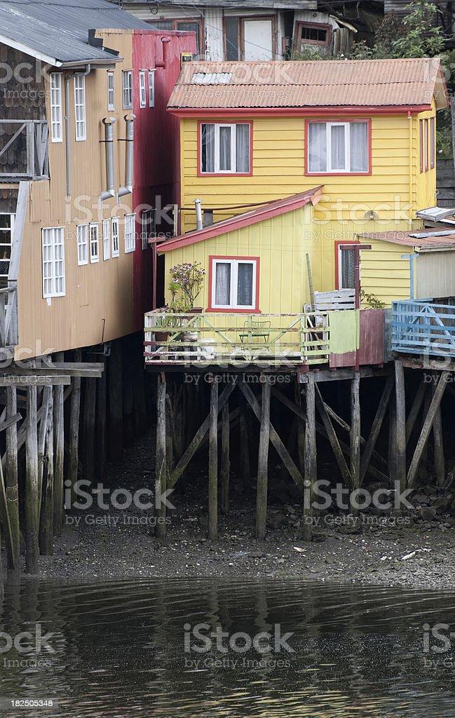 Houses of Castro (Chiloe Island) stock photo
