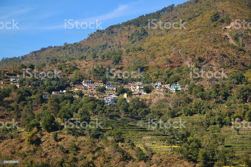 Houses of Devprayag stock photo