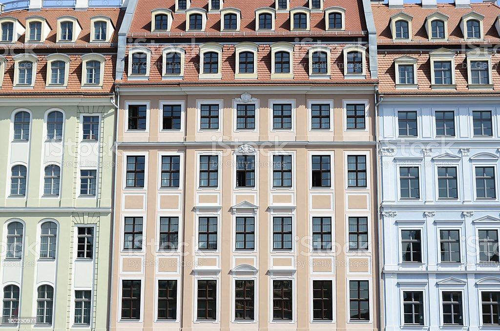 Houses of Dresden stock photo