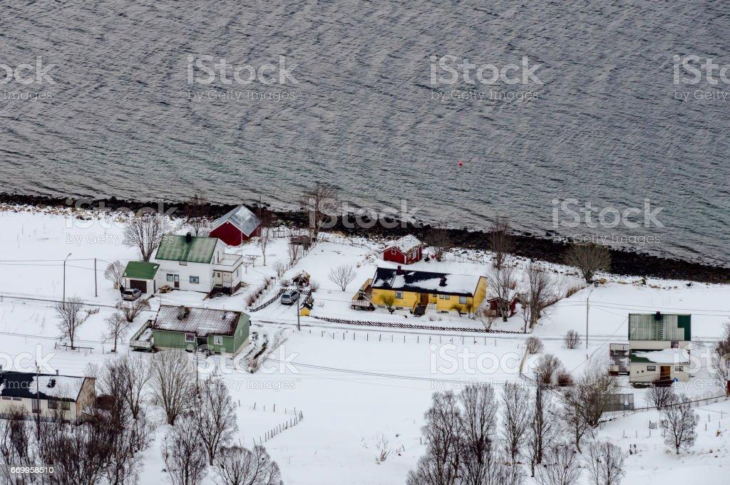 Houses of Elgsnes stock photo