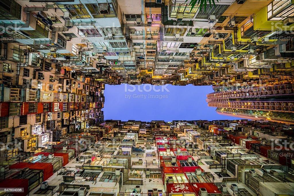 houses of hong kong stock photo