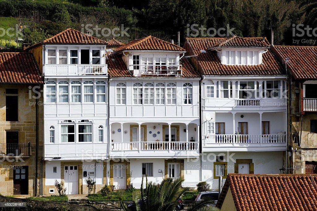 Houses of Lastres royalty-free stock photo
