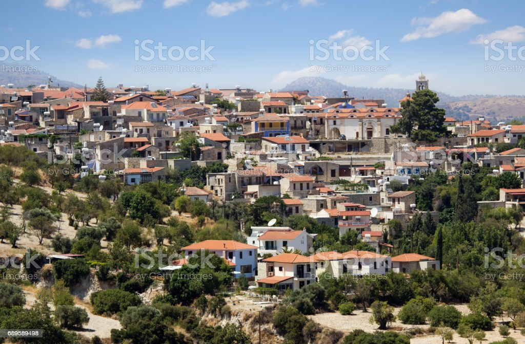 Lefkara Village, Cyprus - July 21, 2015: Houses of mountain village Pano Lefkara stock photo