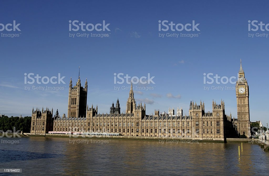 Houses of Parliament and Big Ben, London royalty-free stock photo