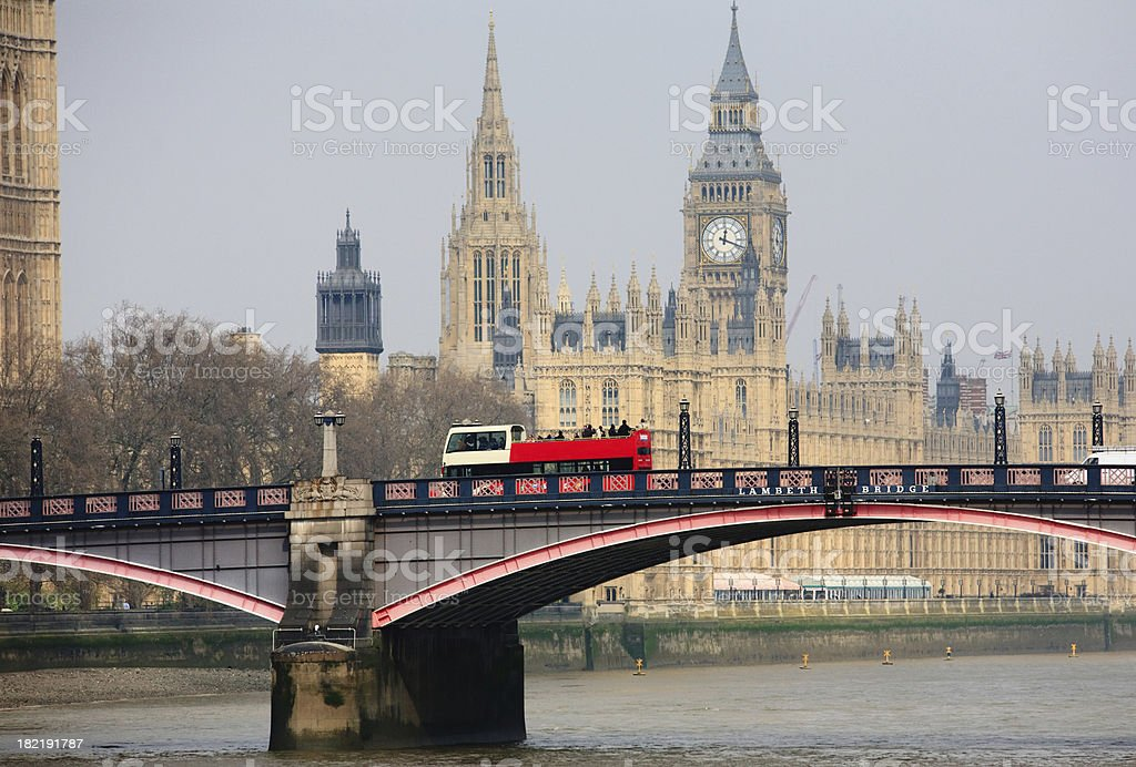 Houses of Parliament and Big Ben, London stock photo