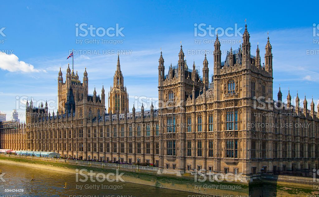 Houses of Parliament and Parliament tower, London stock photo